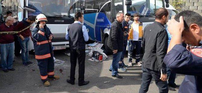 İstanbul Otogarında inanılmaz kaza!