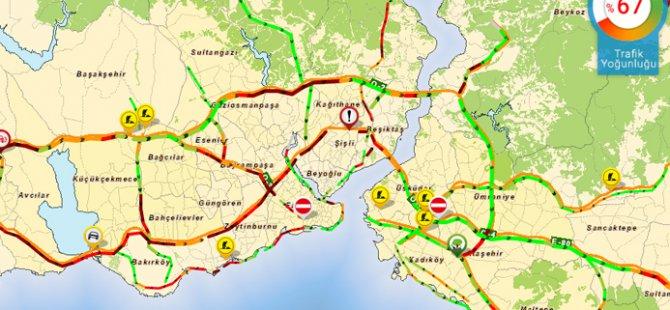 TEM'de trafik durma noktasında!