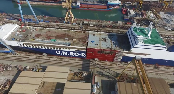U.N Ro-Ro gemisinin boyu 30 metre uzadı