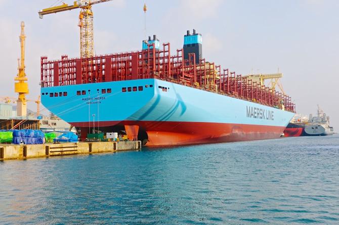 Dünyanın en büyüğü Maersk Line filosuna girdi