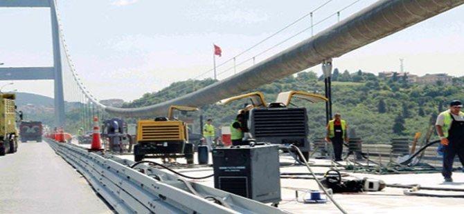 15 Temmuz Köprüsü'nde bakım çalışmaları başladı
