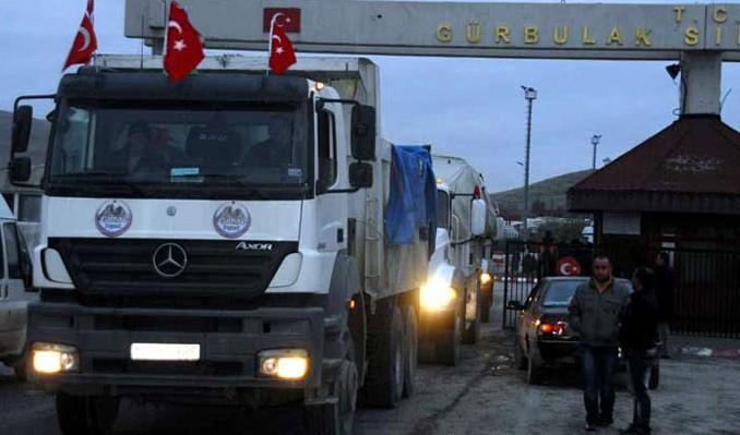 Türk TIR'ları karayoluyla Katar'da
