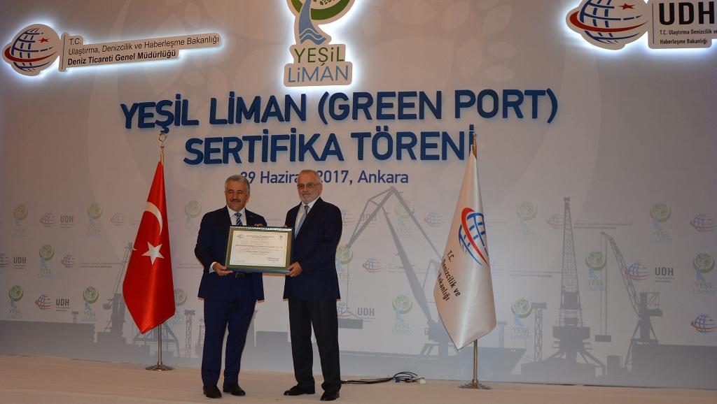 """Borusan Lojistik'e """"Eko Liman"""" Sertifikası"""