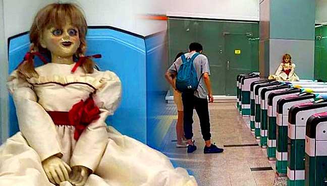 """Malezya trenlerinde """"korkunç bebek"""" uygulaması"""