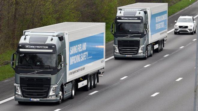 İngiltere sürücüsüz kamyonları deniyor