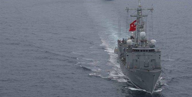 Yunan gemisinin yardımına Türk fırkateyni yetişti