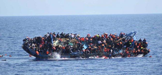Kocaeli açıklarında mülteci dolu balıkçı teknesi battı!