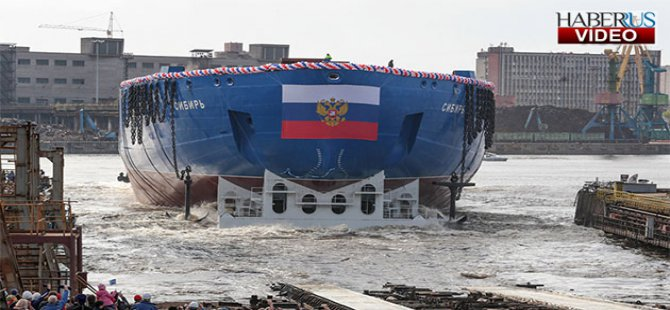 Dünya'nın en güçlü buzkıran gemisi suya indirildi