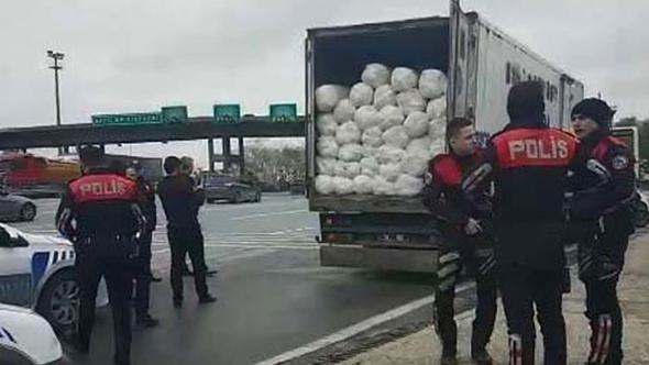 TEM'de kamyon operasyonu