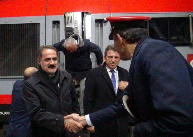 BTK'da ilk tren Kars'a geldi
