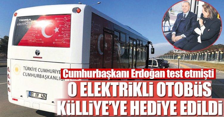 Elektrikli otobüs Külliye'nin oldu