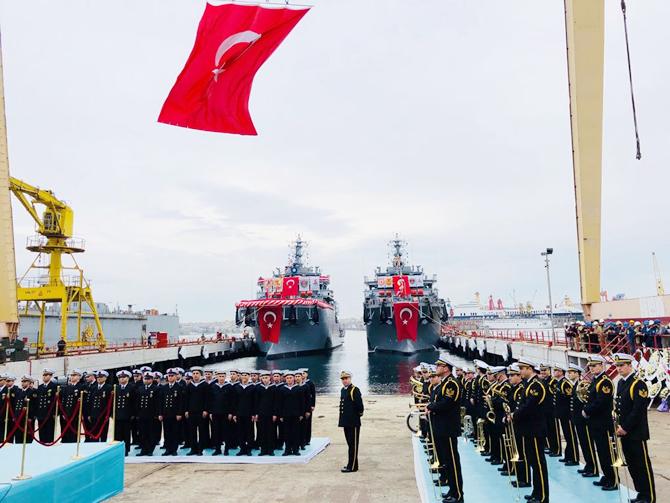 'TCG AKIN' Deniz Kuvvetleri'ne teslim edildi