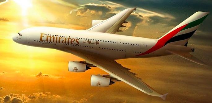 "Emirates ile ""üst sınıf"" uçuş"