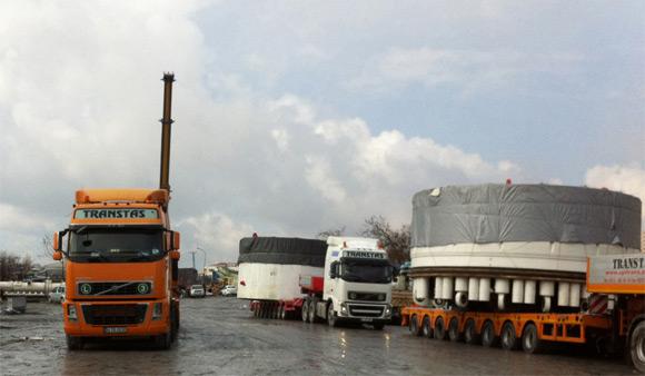 Transtaş, Avrupa'da iki büyük taşıma gerçekleştirdi