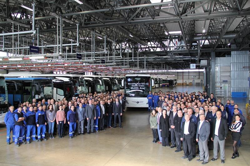 Mercedes-Benz Türk, 85 bin otobüse ulaştı