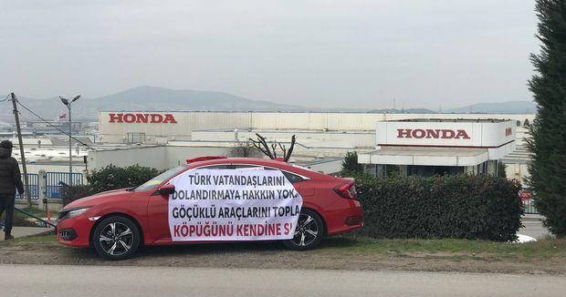 Honda sahiplerinden 'göçük' protestosu