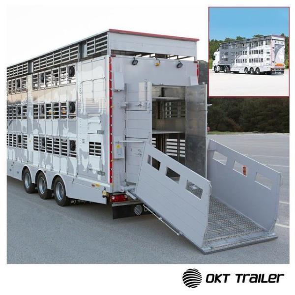 Canlı hayvan taşıma aracı fuarın gözdesi oldu