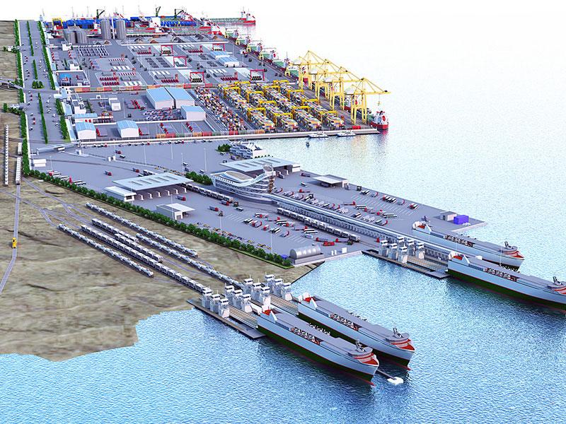 Deniz seviyesinin altında yapılan en büyük liman açıldı