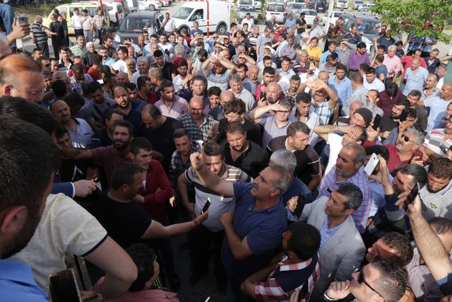 Ankara Lojistik Üssü'nde kamyoncu eylemi
