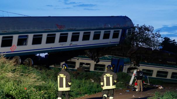 Kamyon, trenle çarpıştı, ölü ve yaralılar var