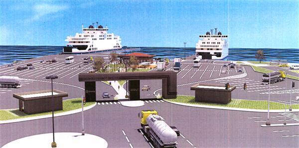 Çanakkale'ye 4 rampalı feribot terminali