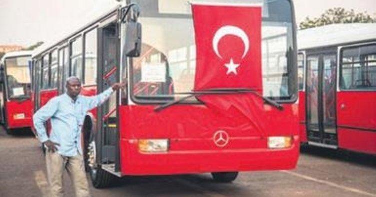 Gine'ye hediye edilen 50 otobüs seferlere başladı