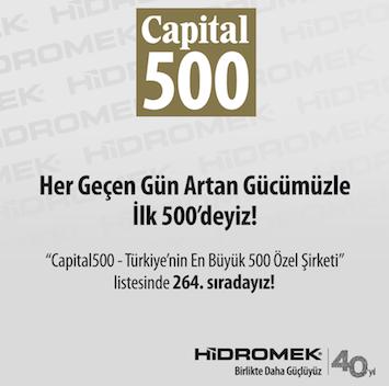 Hidromek bir kez daha Türkiye'nin devler listesinde