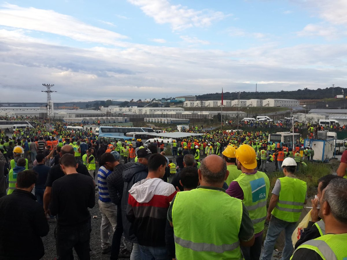 3. Havalimanı'nda işçi eylemi