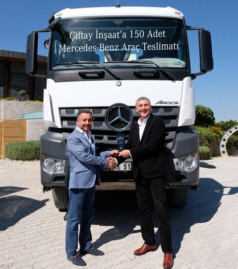 Çiftay İnşaat'a 150 yeni Mercedes araç teslimatı