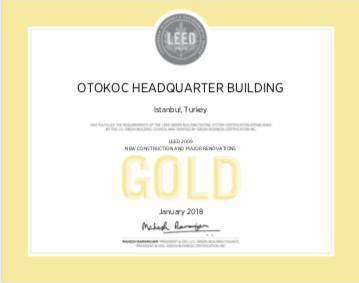 """Otokoç Otomotiv, Türkiye'deki ilk """"Leed Gold Yeşil Kampüs"""" unvanını kazandı"""