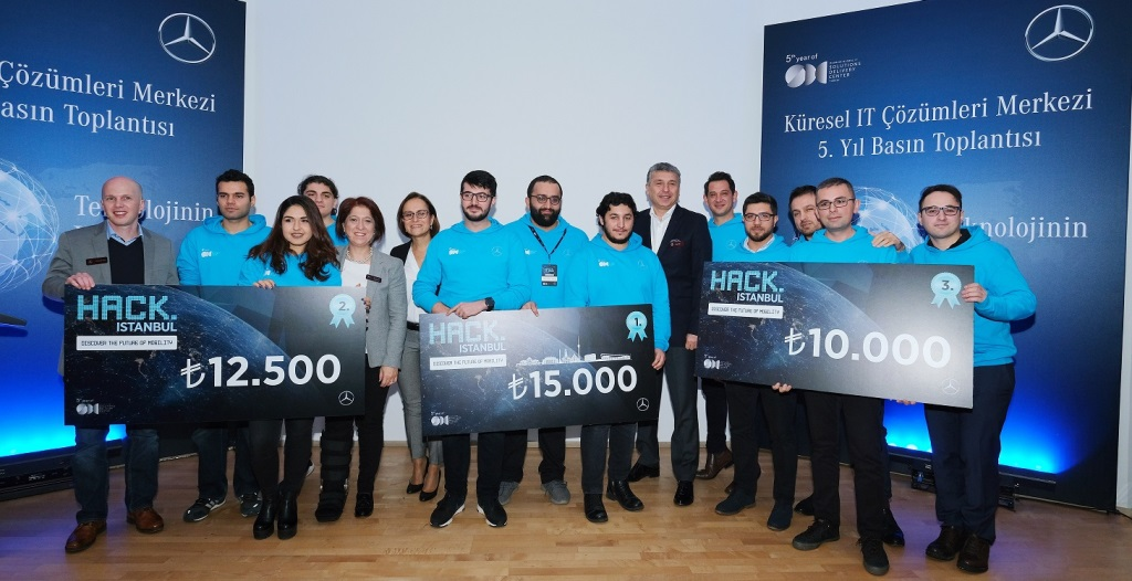 Mercedes, HACK.ISTANBUL finalistlerini ödüle boğdu