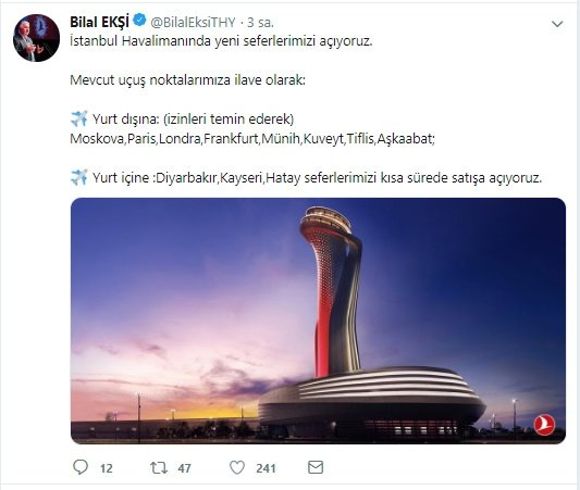 THY, İstanbul Havalimanı'ndan yeni seferler başlatıyor!