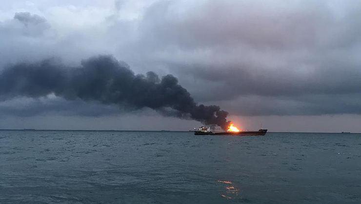 Kerç Boğazı'nda iki gemi yandı: 14 ölü 6 kayıp