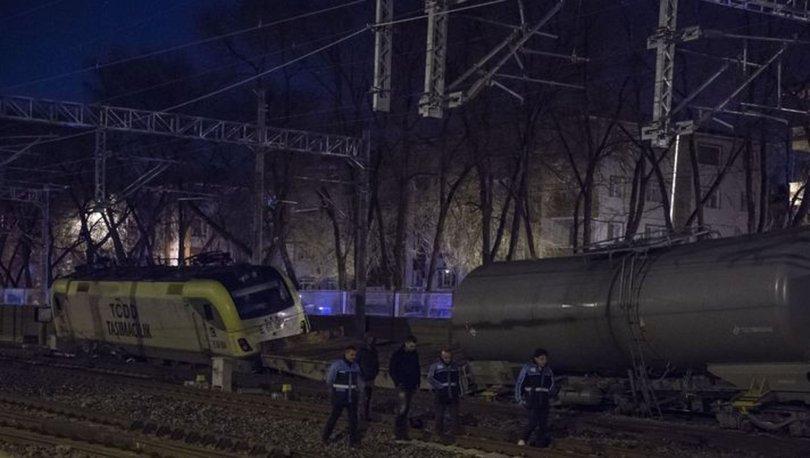Akaryakıt taşıyan yük treni, Ankara'da raydan çıktı