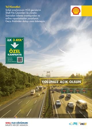 Shell&Turcas ile PTT'den şirket araçlarına özel HGS