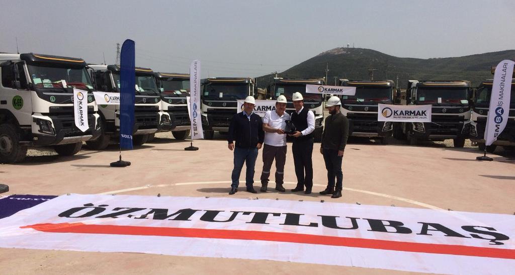 Karmak İnşaat filosuna 20 Volvo Kamyon katıldı
