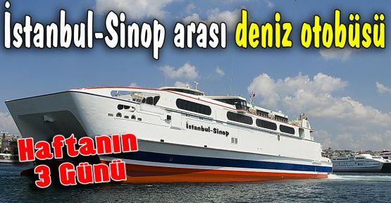 Sinop-İstanbul Arası Deniz Otobüsü Başlıyor