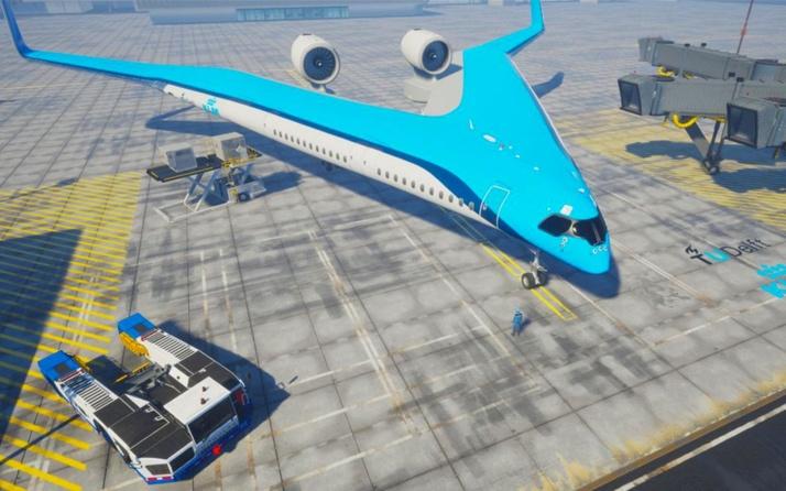 Flying-V yolcularını kanatta taşıyacak