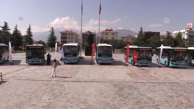 Erzincan Kent içi ulaşıma 10 Isuzu midibüs
