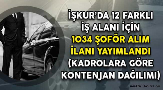 İŞKUR'da 1.034 şoför alımı ilanı