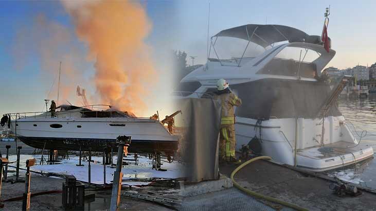 Ataköy ve Pendik marinalarında eş zamanlı yangın