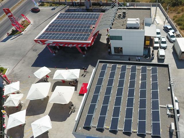 Petrol Ofisi'nden güneş enerjili istasyon