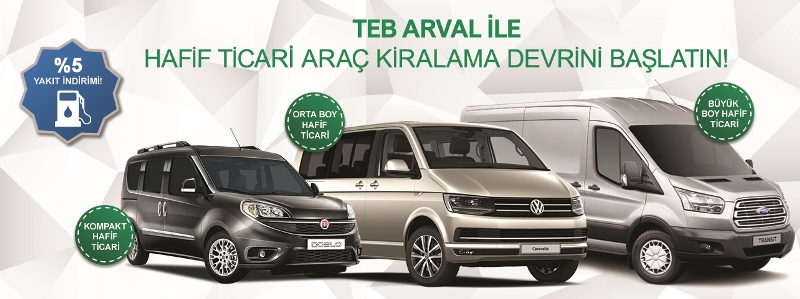 TEB Arval'da hafif ticari araç kiralama dönemi