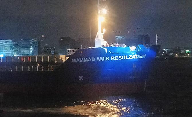 İki gemi Ahırkapı açıklarında çatıştı