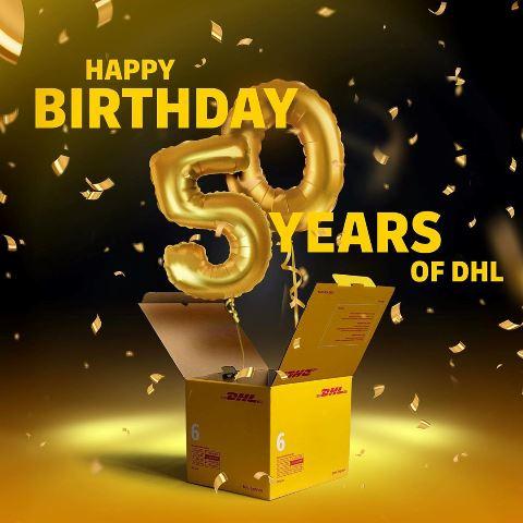 DHL 50'inci yaşını kutluyor