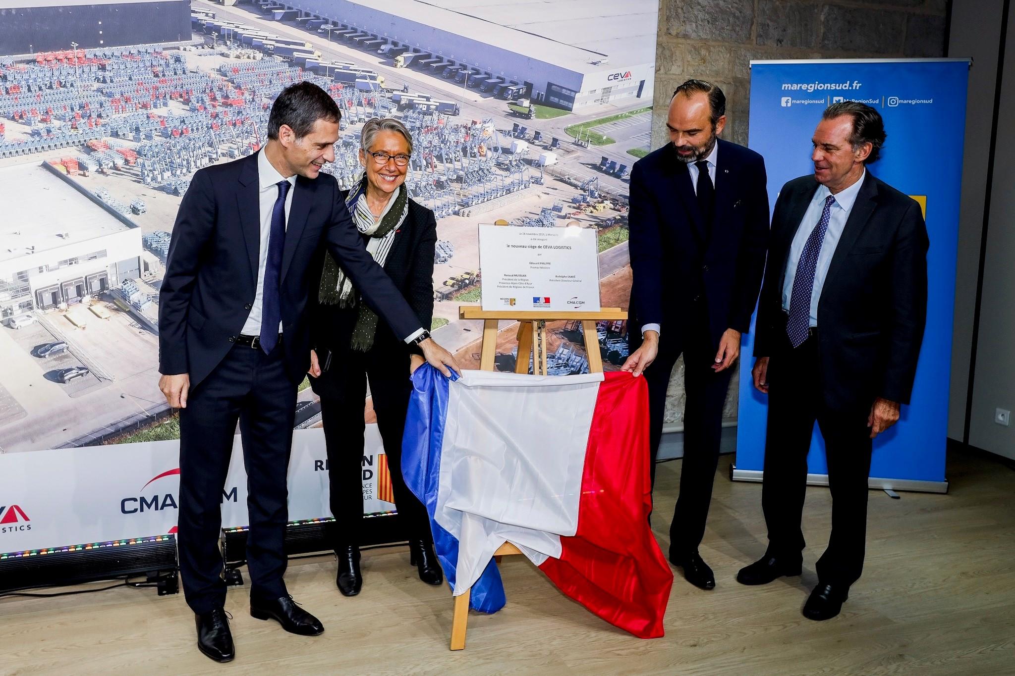 CEVA Lojistik'in Marsilya merkezini Fransa Başbakanı açtı
