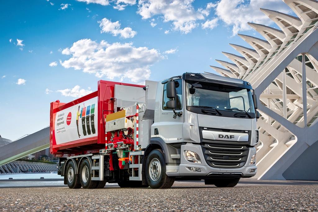 DAF'ın elektrikli çöp kamyonu testler için hazır