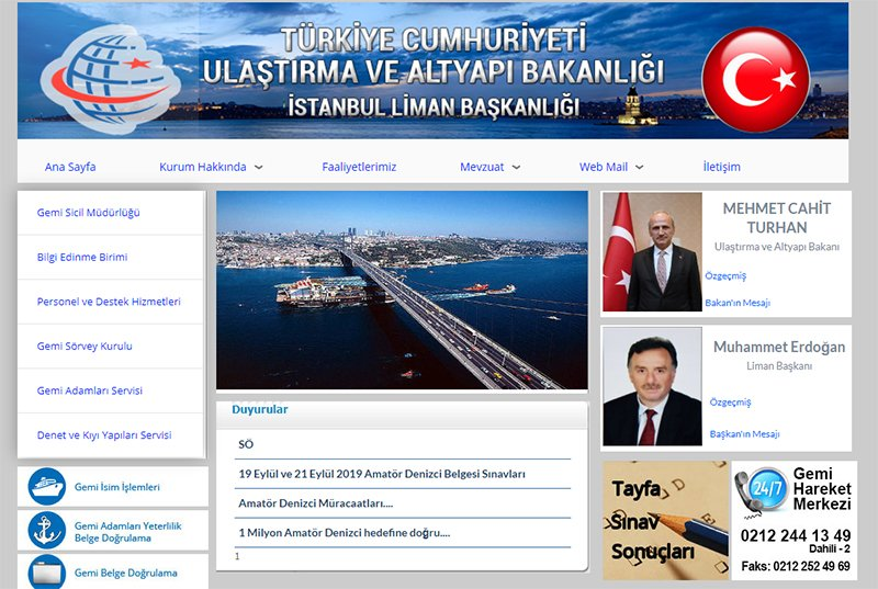 İstanbul Liman Başkanlığı'nda bir tuhaf paylaşım