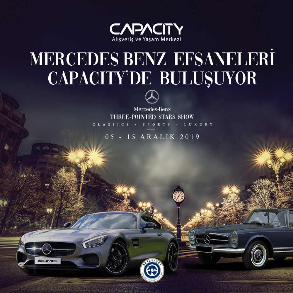 "Capacity AVM'de ""Efsane Mercedes""ler Sergisi"