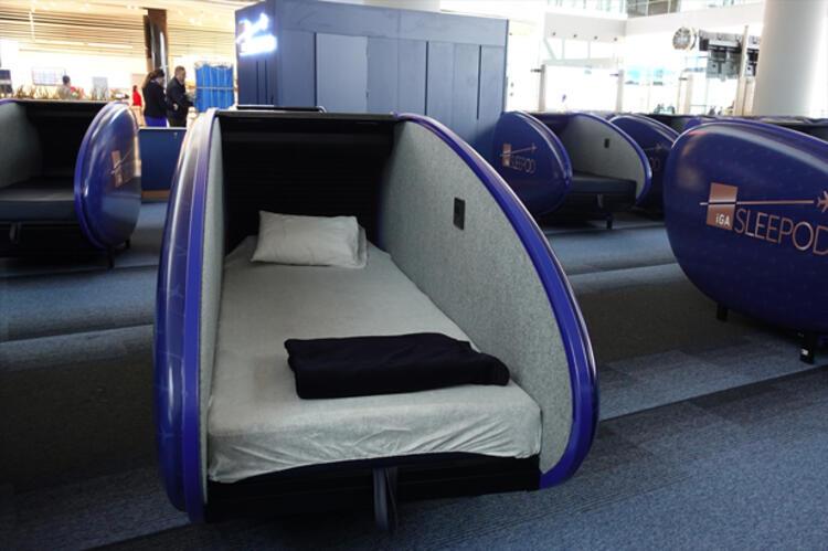 Uçağınızı beklerken mışıl mışıl uyuyabileceksiniz